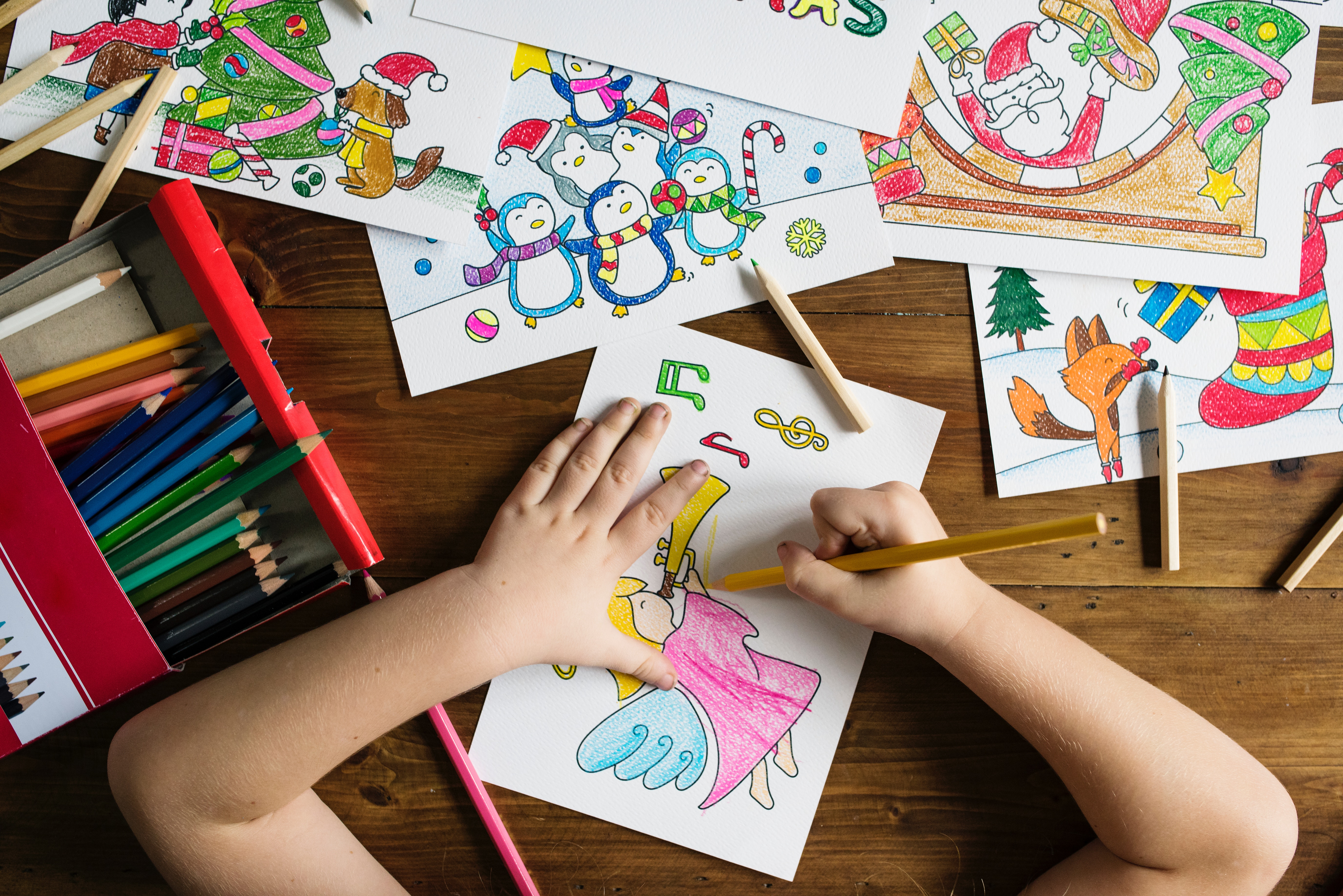Child, drawing, playing, painting